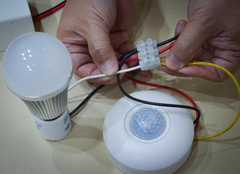 การติดตั้ง Step motion sensor