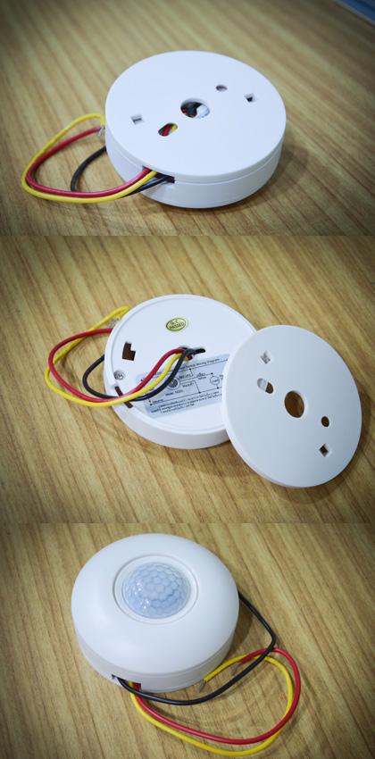 การจัดสายไฟออกจากmotion sensor