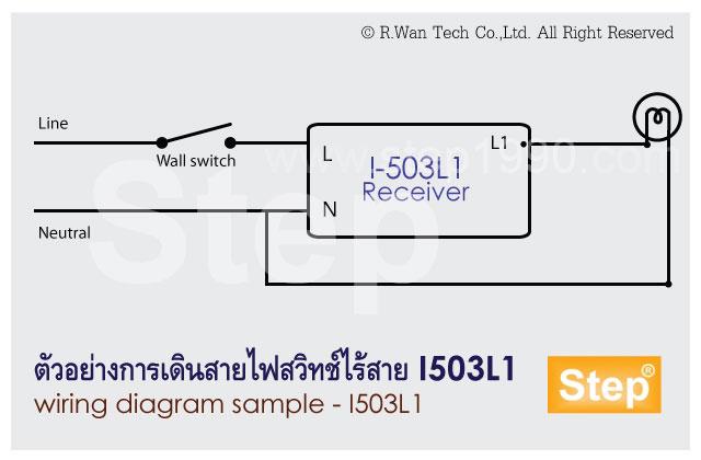 แผนภาพวงจรการติดตั้งสวิทช์ I503L1